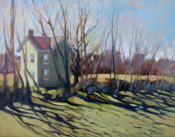Debra Howard Winter Light on the Eastern Shore oil 11x14 $925